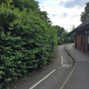 Cycle lane blocked