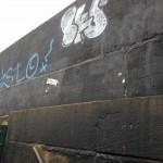 Graffiti next to the railway station