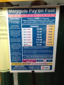 Marygate car park charges