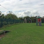 Grange Lane playground - Equipment repaired but litter everywhere