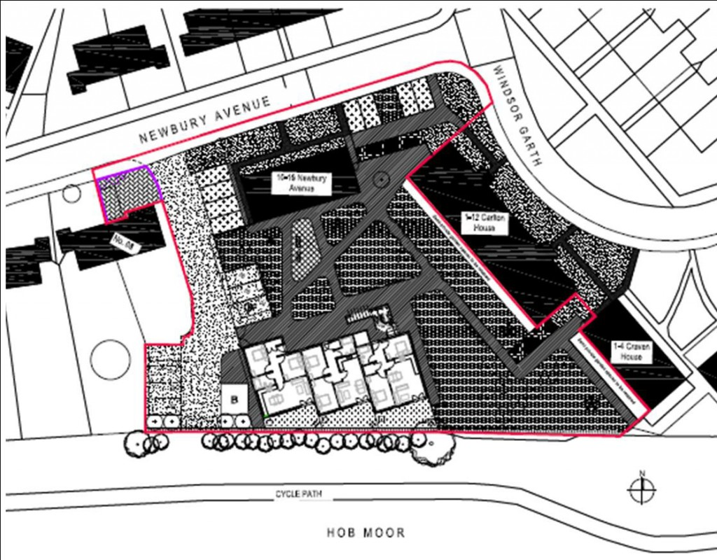 New Newbury development site layout, Click for large maps