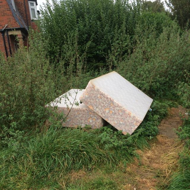 Bed dumped in field off Askham Lane