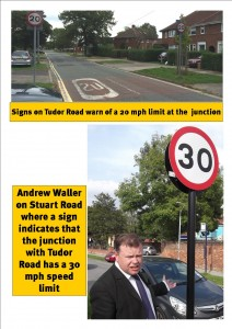 Tudor Road speed limit confusion click