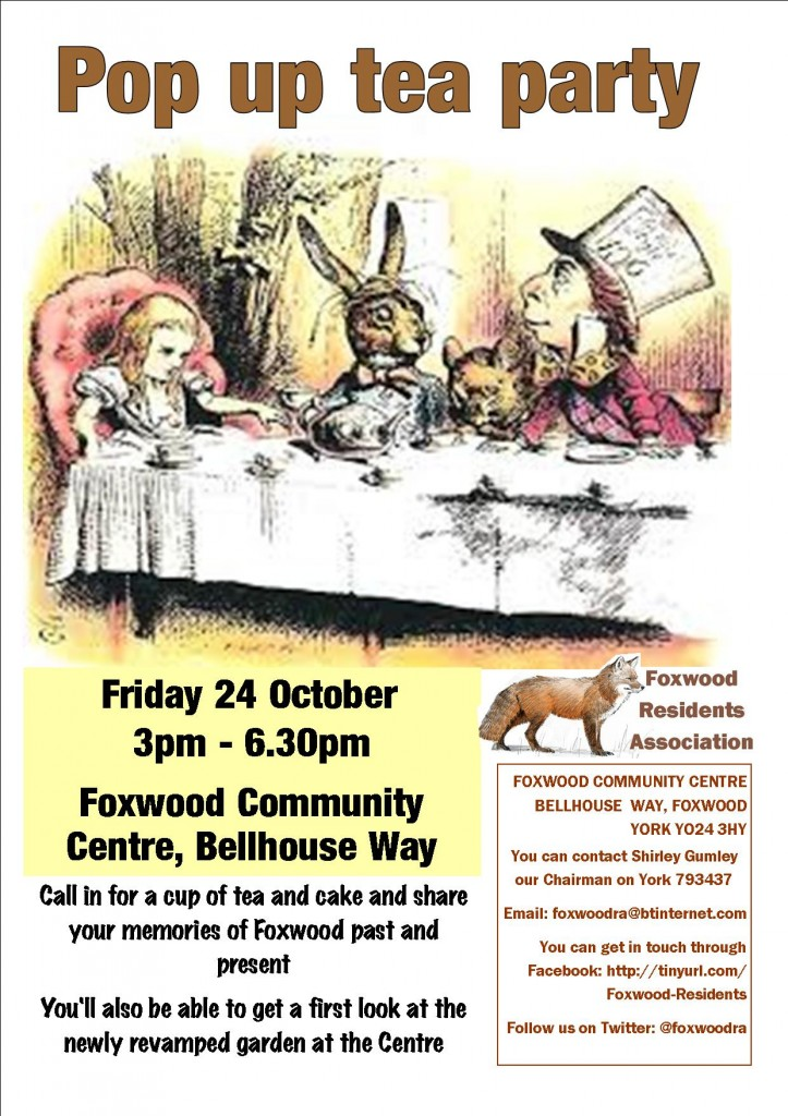 Pop up tea party poster poster