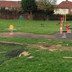 Detritus on playground