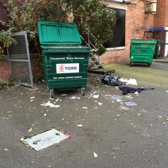 Insecure rubbish storage (Front Street)
