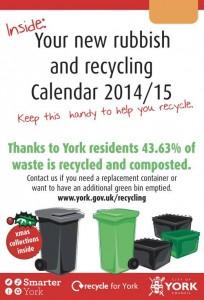 Waste calendar 2015