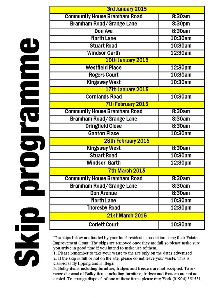 Skip Programme Click to enlarge