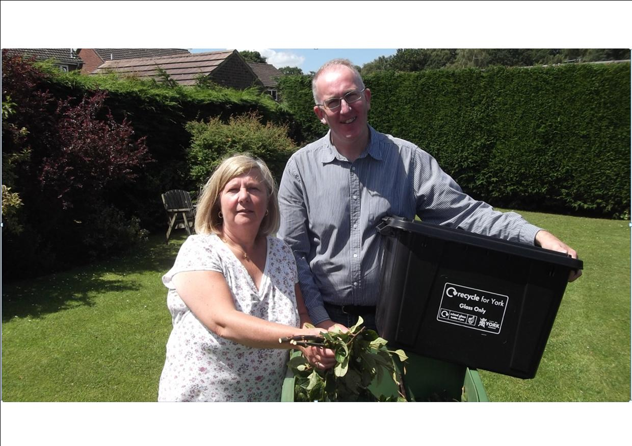 Ann and Stephen green bins
