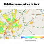 Average house prices in different York neighbourhoods click to enlarge