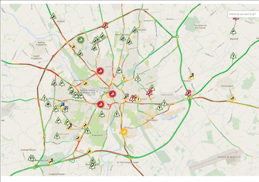 Traffic congestion 0850am 13th Jan 2015