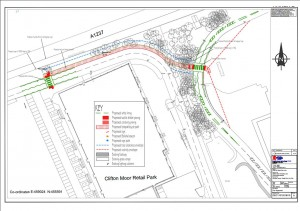 Clifton Moor link foot and cycle path click to access