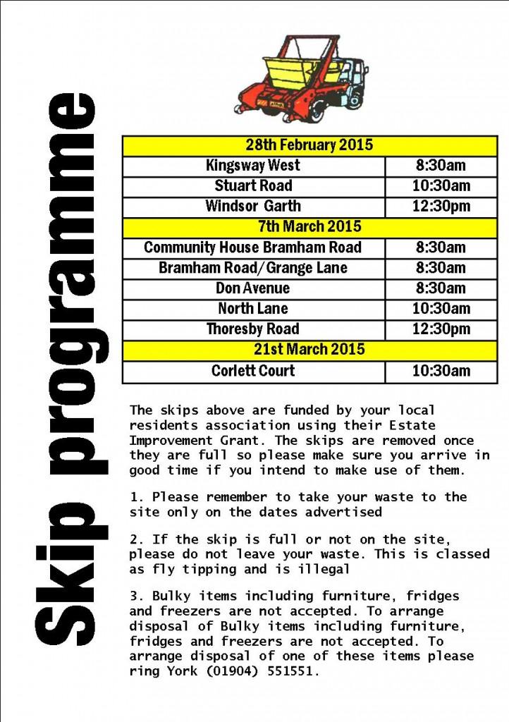 Skip programme 20th Feb 2015