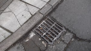Blocked  drain on Moorgate
