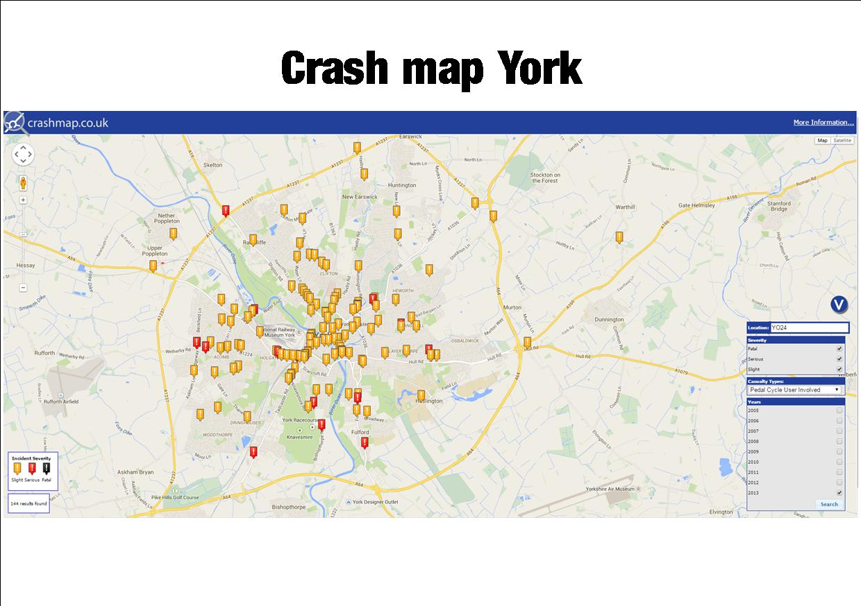 Crash map York