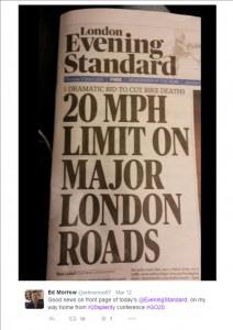 Evening standard headline
