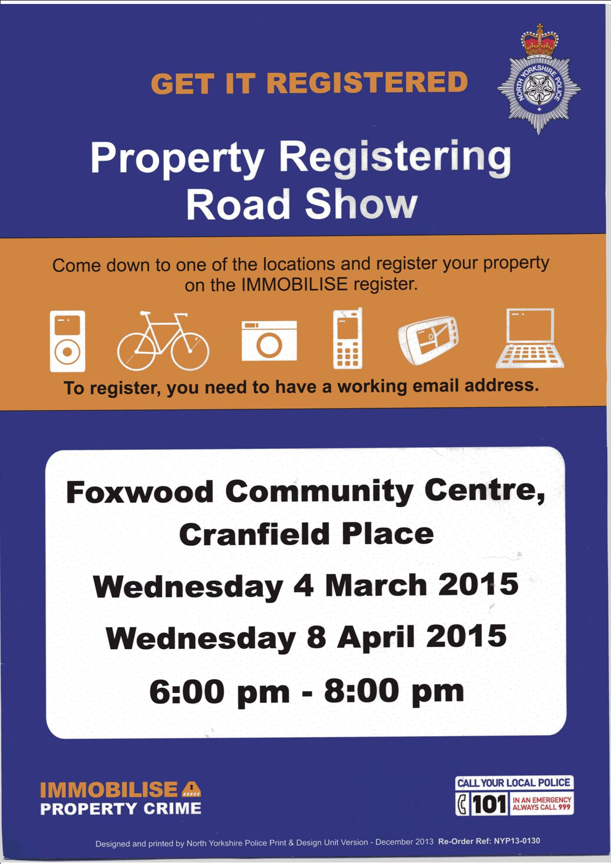Property registration March 2015