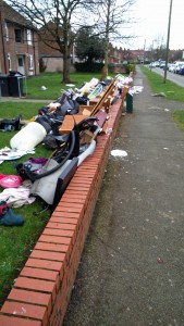 rubbish dumped Thoresby flats