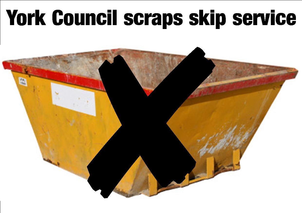 Skips scrapped