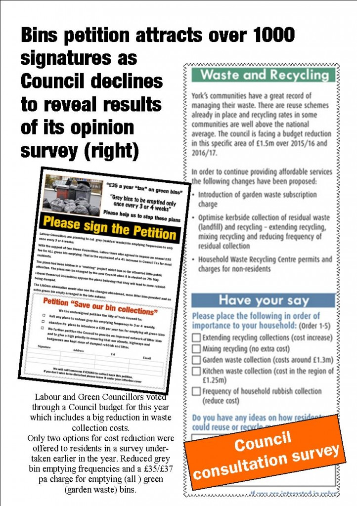 Waste collection update 12th April 2015