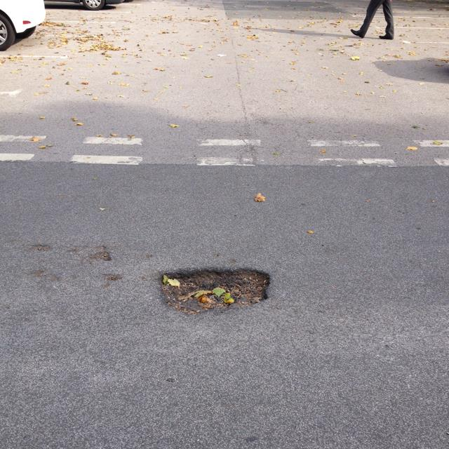 Pothole in Acomb car park