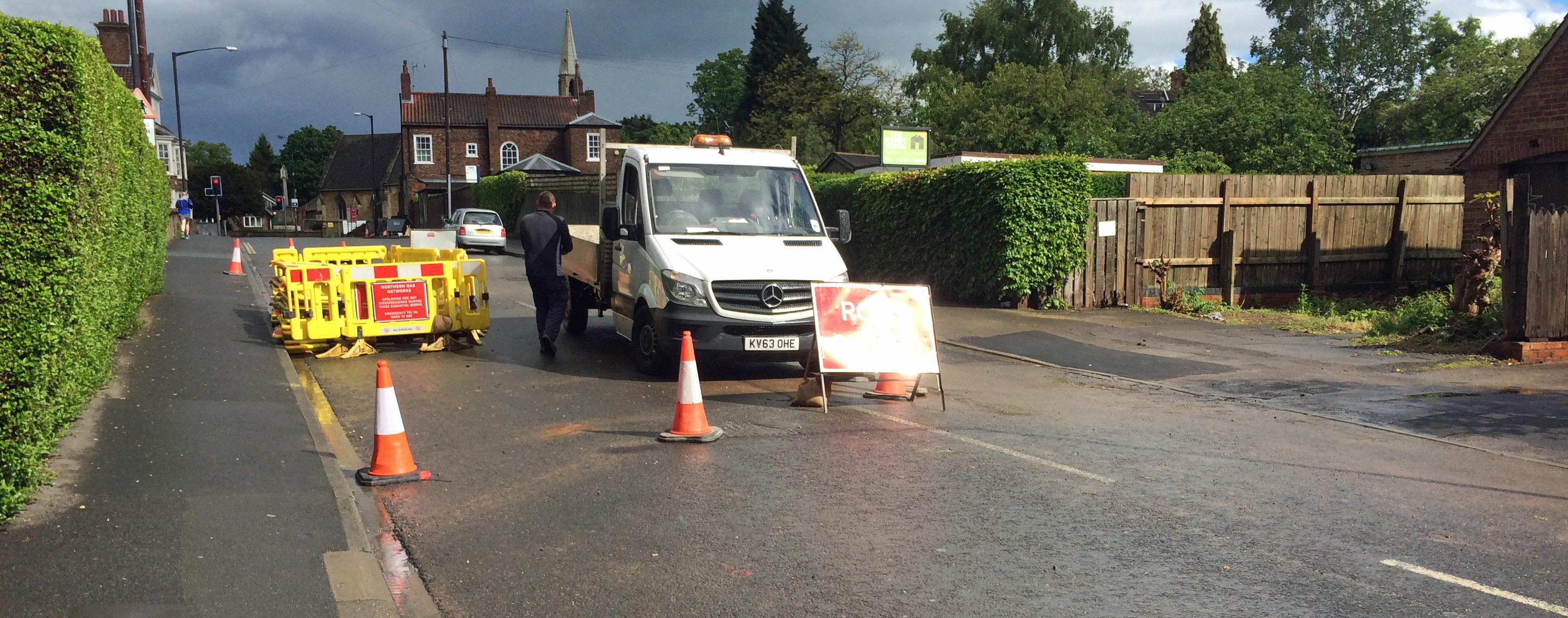 St Helens Road closure