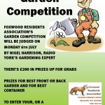 Garden contest poster