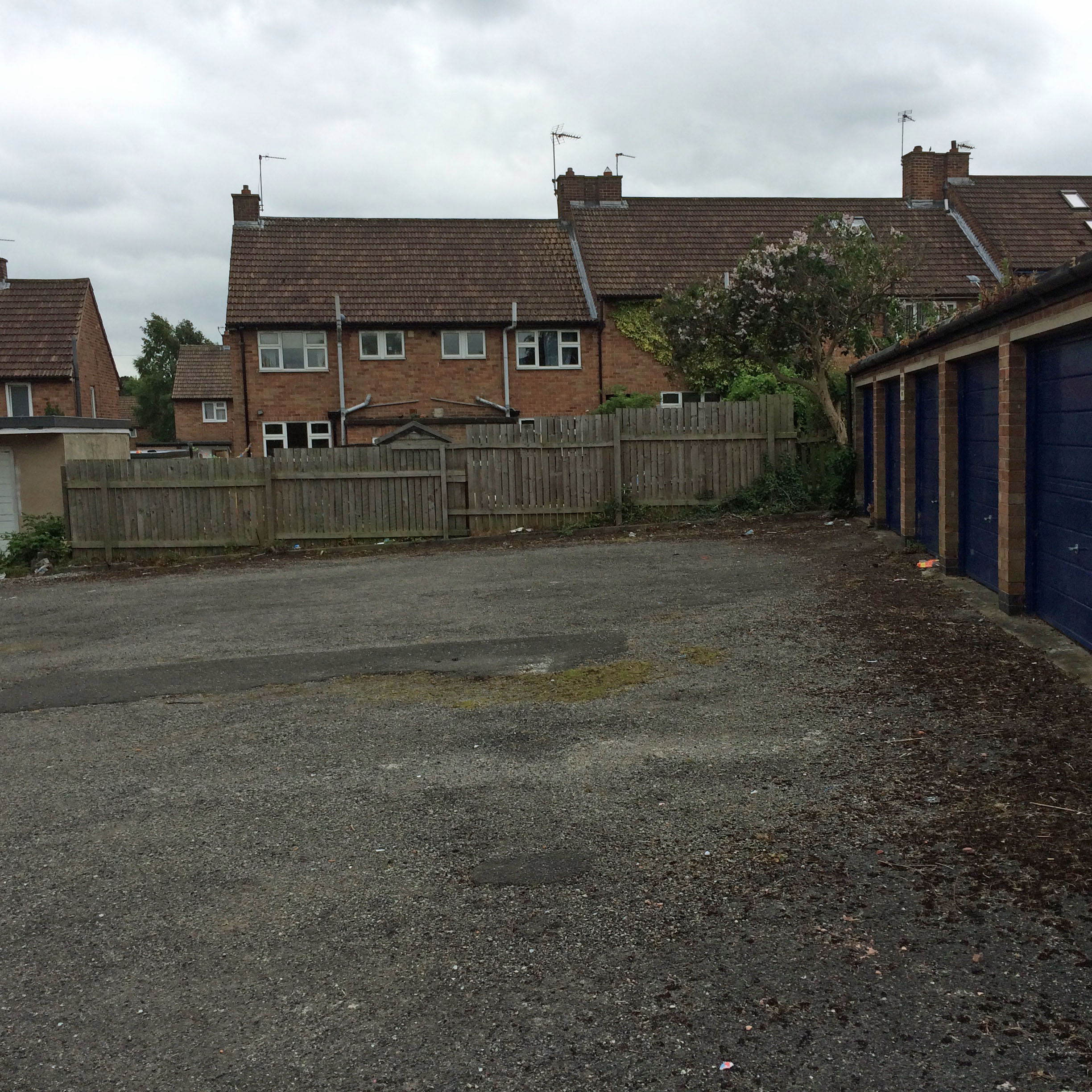 Neglected garage site on Marston Avenue 1