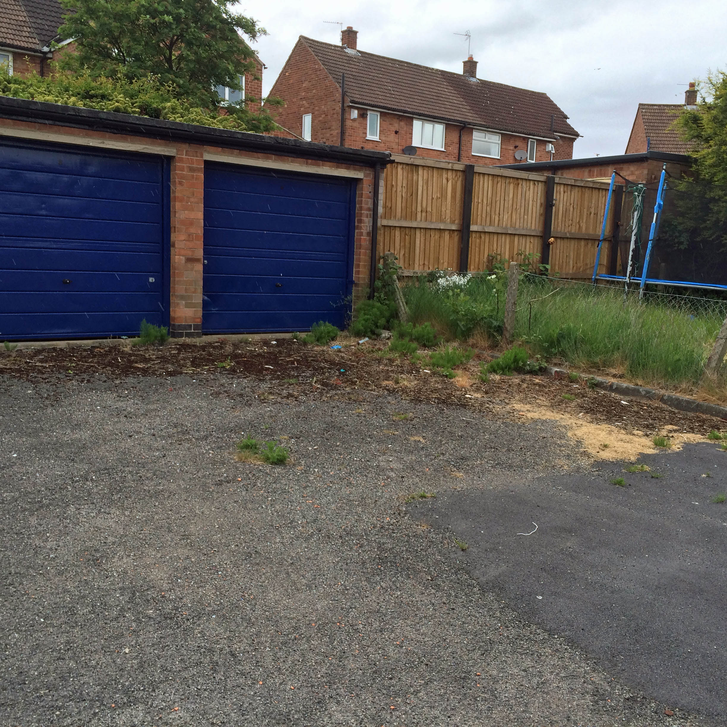 Neglected garage area on Marston Avenue 2