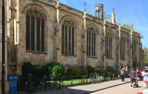 Cycle parking next to historic buildigs