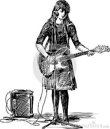 girl-guitar-vector-drawing-girls-singing-street-31430820