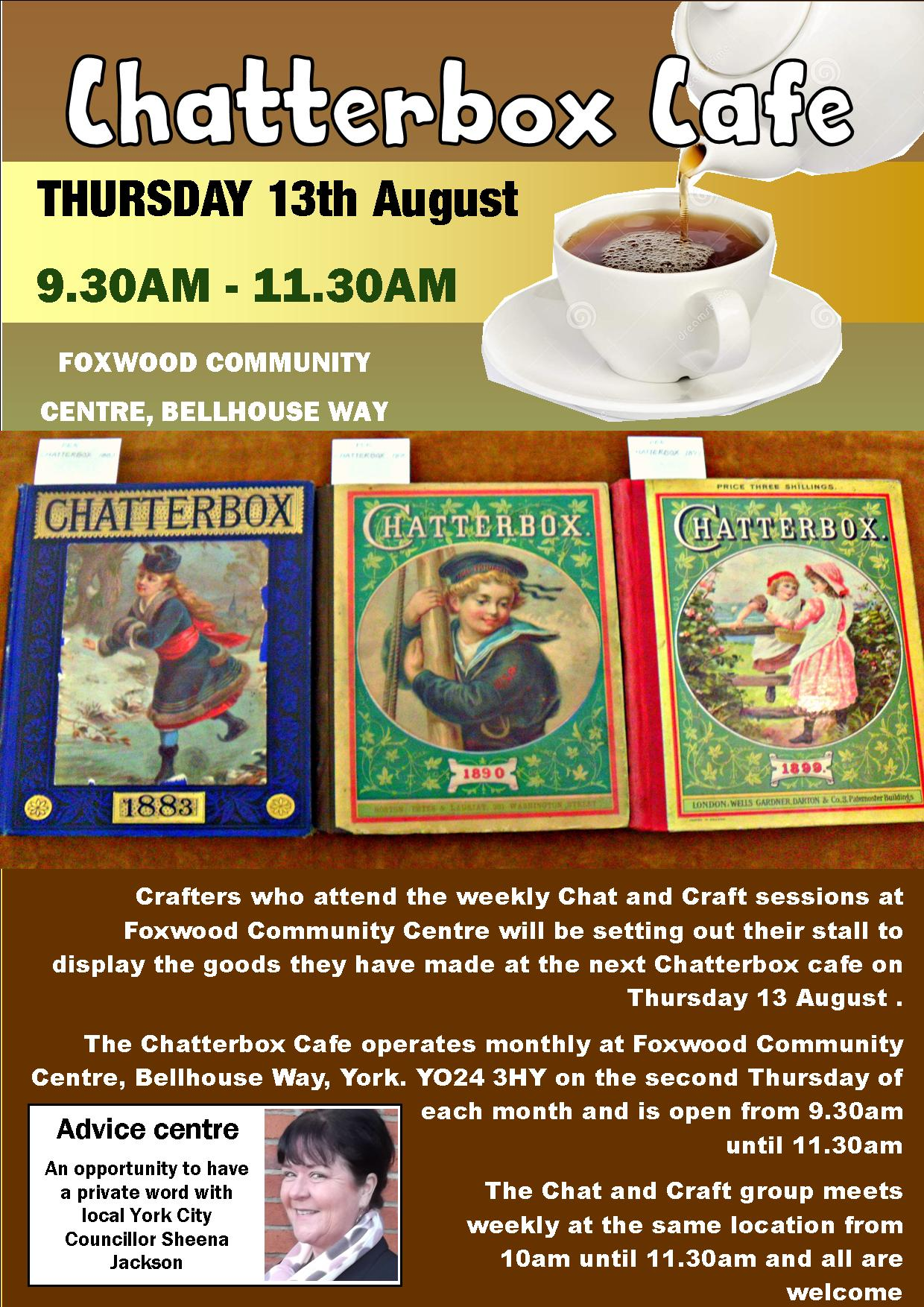Chatterbox cafe 9th Aug 2015