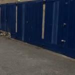 Damaged garage doors Chapelfields Road click to enlarge