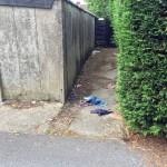 Snickets need sweeping back Chapelfields Road