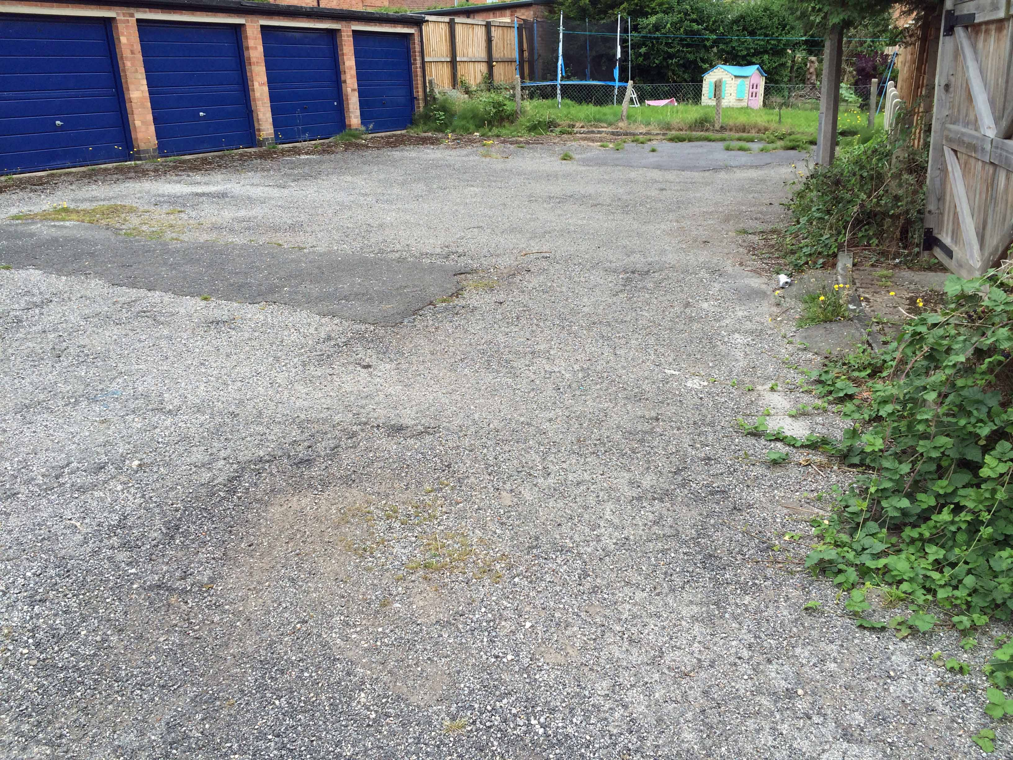 Garage areas are neglected in many estates