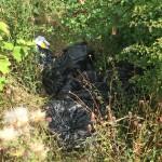 Traveller camp Moor Lane bags dumped in hedges
