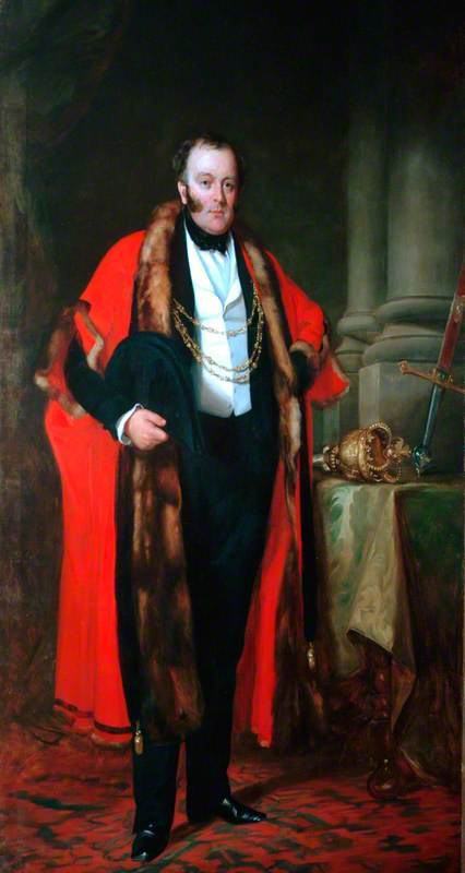 Another controversial Lord Mayor - George Hudson - wearing the chain of office