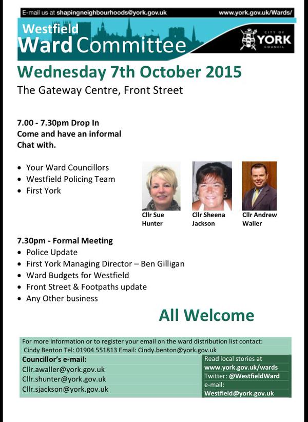 Westfield Ward committee meeting Oct 2015