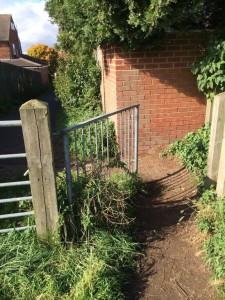 Askham Lane entrance gate broken