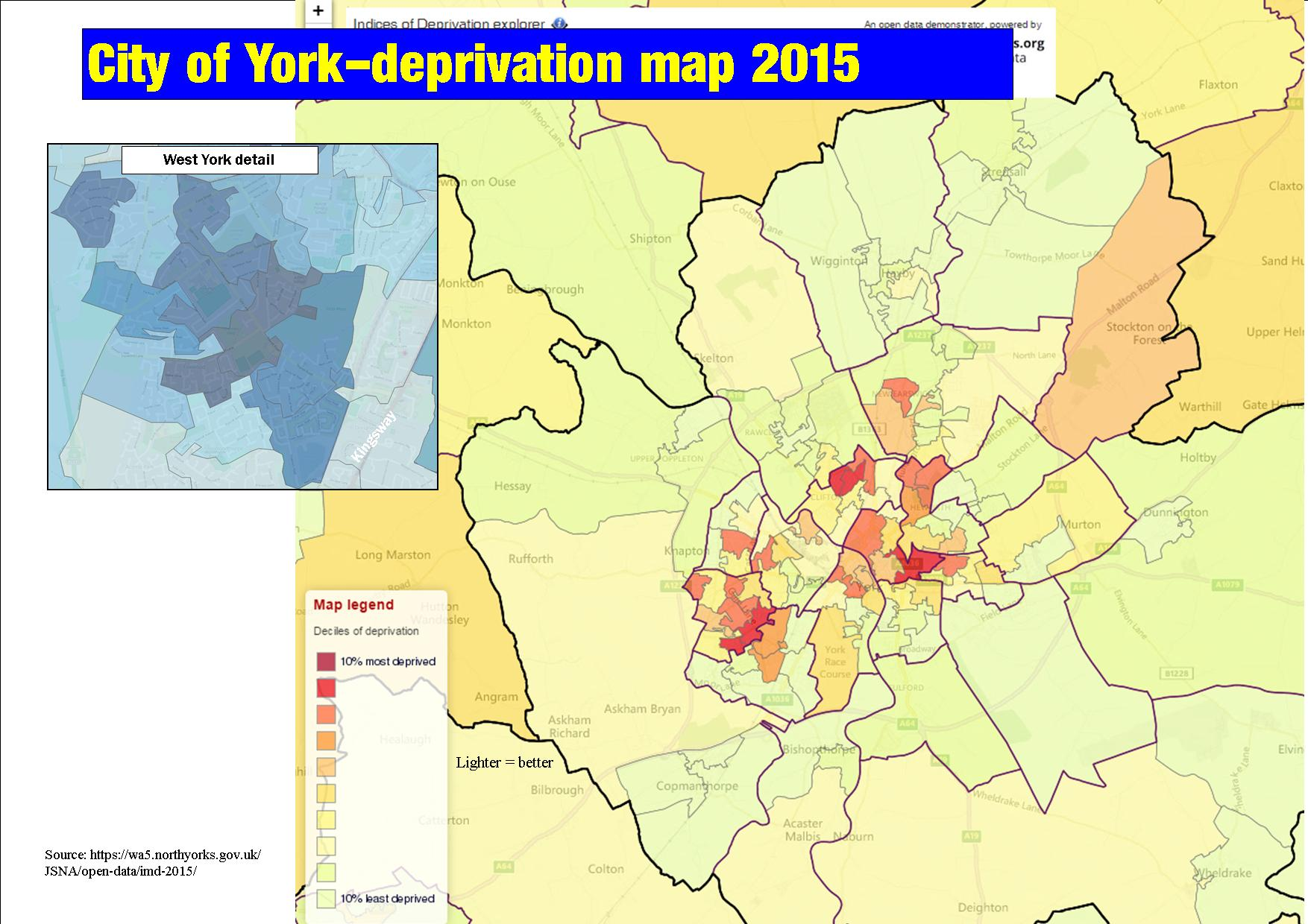Deprivation map 2015