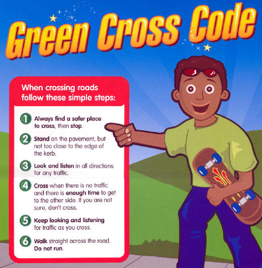 Free Worksheets pedestrian safety for kids worksheets : Green Cross code : Steve Galloway