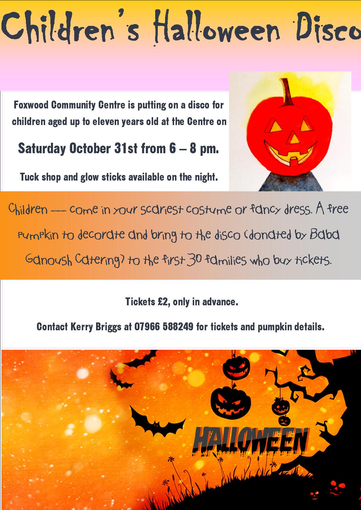 Halloween party 31st Oct 2015