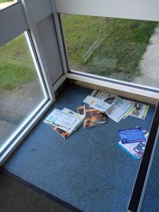 Copies of Council newspaper dumped in flat stairwells