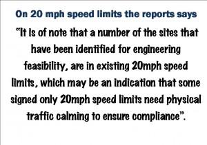 20 mph speed limits