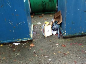 More dumping next to paper banks at Acomb Car park