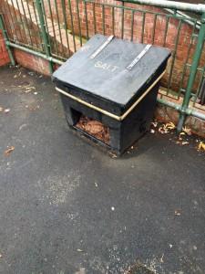 Hinges broken on Askham Grove bin