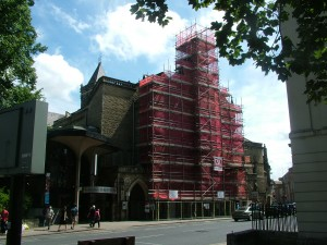 Theatre Royal restoration scaffolding