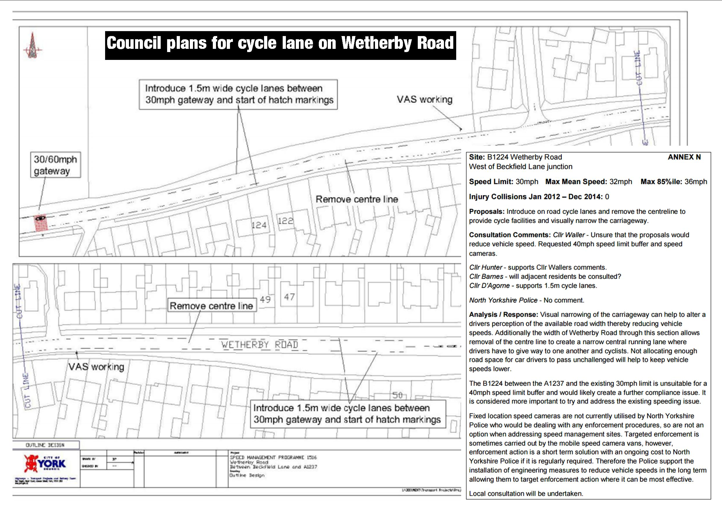 Wetherby Road proposed highway layout changes click to enlarge