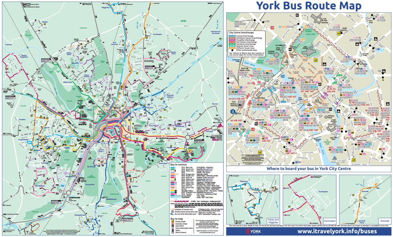 Revised York bus route map available to download Cllr Ann Reid