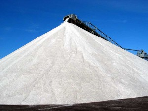 Salt pile for use by York Council Housing management